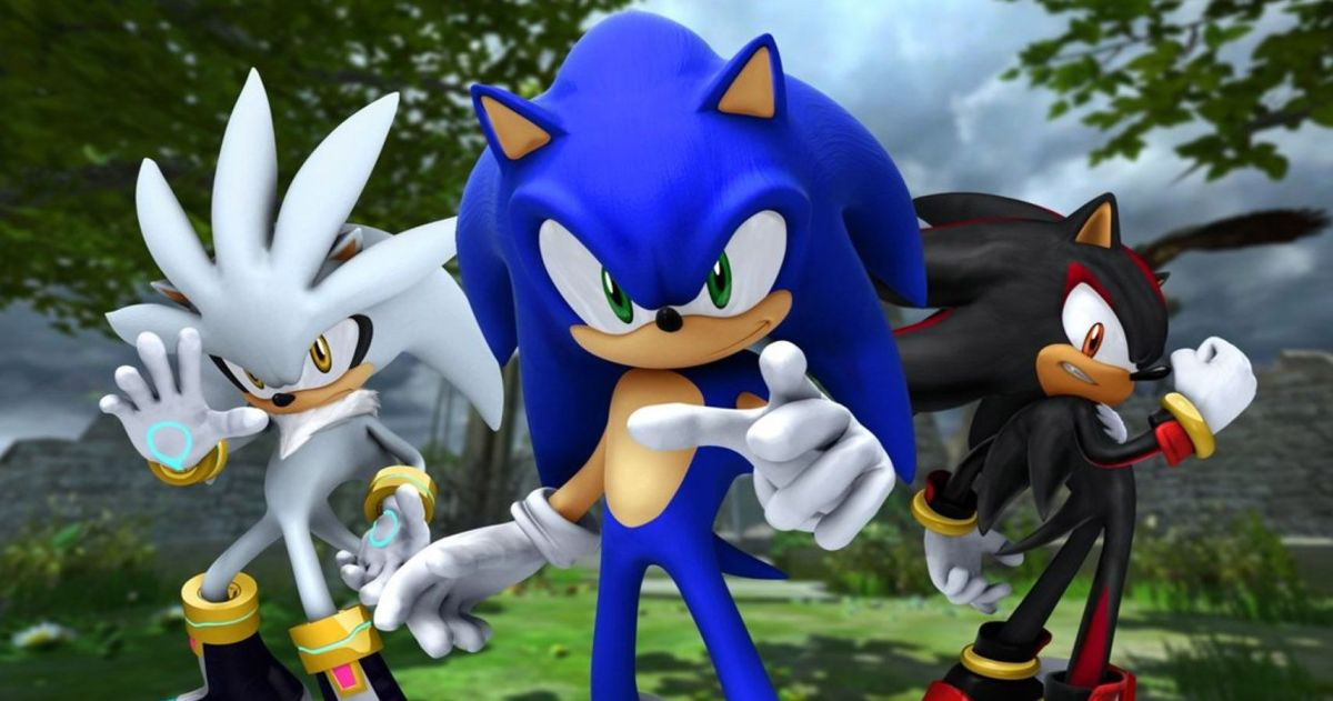 Sonic the hedgehog 06 with Shadow and Silver the hedgehogs